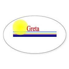 Greta Oval Decal