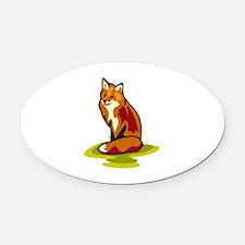 Fox Oval Car Magnet