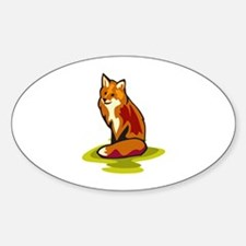 Fox Sticker (Oval)