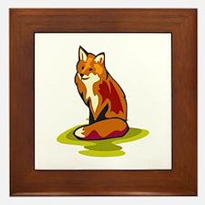 Fox Framed Tile