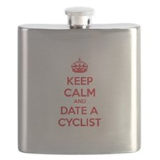Keep calm and date a cyclist Flask