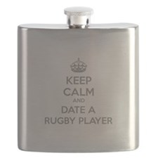Keep calm and date a rugby player Flask