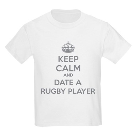 Keep calm and date a rugby player Kids Light T-Shi