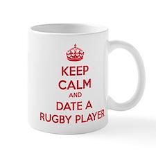 Keep calm and date a rugby player Mug