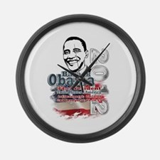 Obama 2012: Large Wall Clock