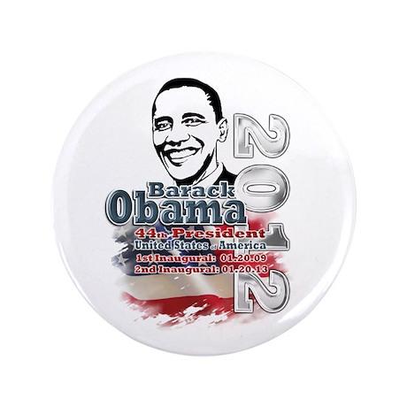 """Obama 2012: 3.5"""" Button"""