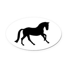 canter black.png Oval Car Magnet