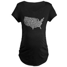 USA Map of Welsh Place Names T-Shirt