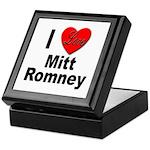 I Love Mitt Romney Keepsake Box