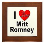 I Love Mitt Romney Framed Tile