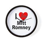 I Love Mitt Romney Wall Clock