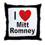 I Love Mitt Romney Throw Pillow