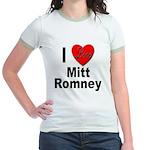 I Love Mitt Romney (Front) Jr. Ringer T-Shirt