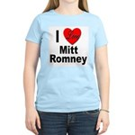 I Love Mitt Romney (Front) Women's Pink T-Shirt