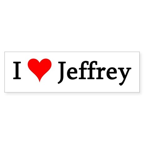 I Love Jeffrey Bumper Sticker