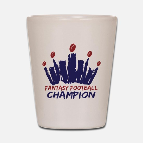 Fantasy Football Champ Crown Shot Glass