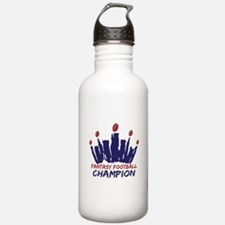 Fantasy Football Champ Crown Water Bottle