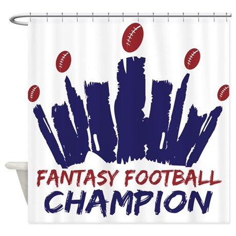 Fantasy Football Champ Crown Shower Curtain