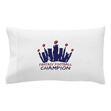 Fantasy Football Champ Crown Pillow Case