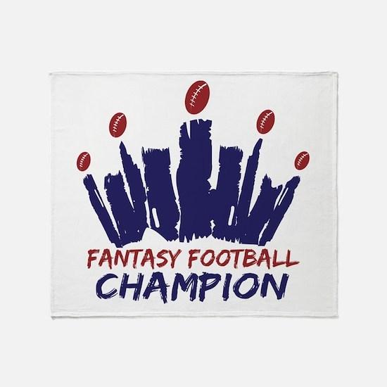 Fantasy Football Champ Crown Throw Blanket