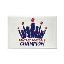 Fantasy Football Champ Crown Rectangle Magnet