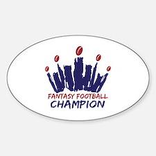 Fantasy Football Champ Crown Decal
