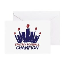 Fantasy Football Champ Crown Greeting Card
