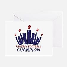 Fantasy Football Champ Crown Greeting Cards (Pk of