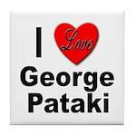 I Love George Pataki Tile Coaster