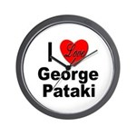 I Love George Pataki Wall Clock