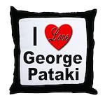 I Love George Pataki Throw Pillow
