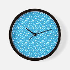 Blue Stars Wall Clock