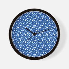 Navy Stars Wall Clock
