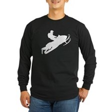 Sled Pic White Dark Long Sleeve T-Shirt