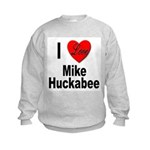I Love Mike Huckabee Kids Sweatshirt