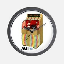 """AMI """"D"""" Beachwood Wall Clock"""
