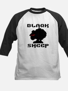 Transparent blaQk Sheep Logo Kids Baseball Jersey