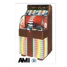 """AMI """"D"""" Mahogany Postcards (Package of 8)"""