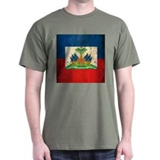 Grunge Haiti Flag T-Shirt
