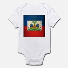Grunge Haiti Flag Infant Bodysuit