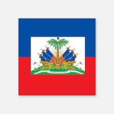 """Haiti Flag Square Sticker 3"""" x 3"""""""