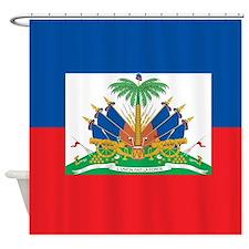 Haiti Flag Shower Curtain