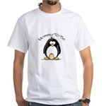 Mommy to Be Penguin White T-Shirt