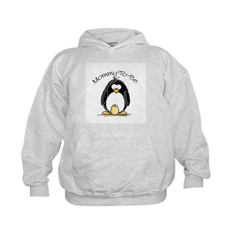 Mommy to Be Penguin Kids Hoodie