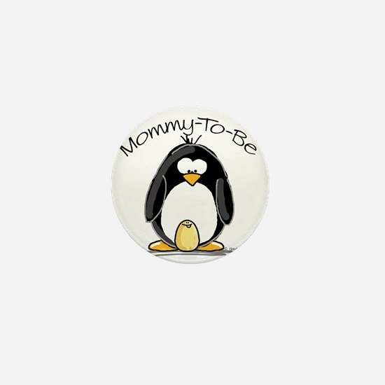 Mommy to Be Penguin Mini Button