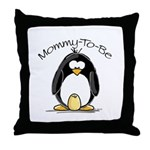 Mommy to Be Penguin Throw Pillow