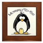 Mommy to Be Penguin Framed Tile