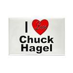 I Love Chuck Hagel Rectangle Magnet (10 pack)