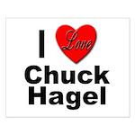 I Love Chuck Hagel Small Poster