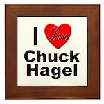 I Love Chuck Hagel Framed Tile